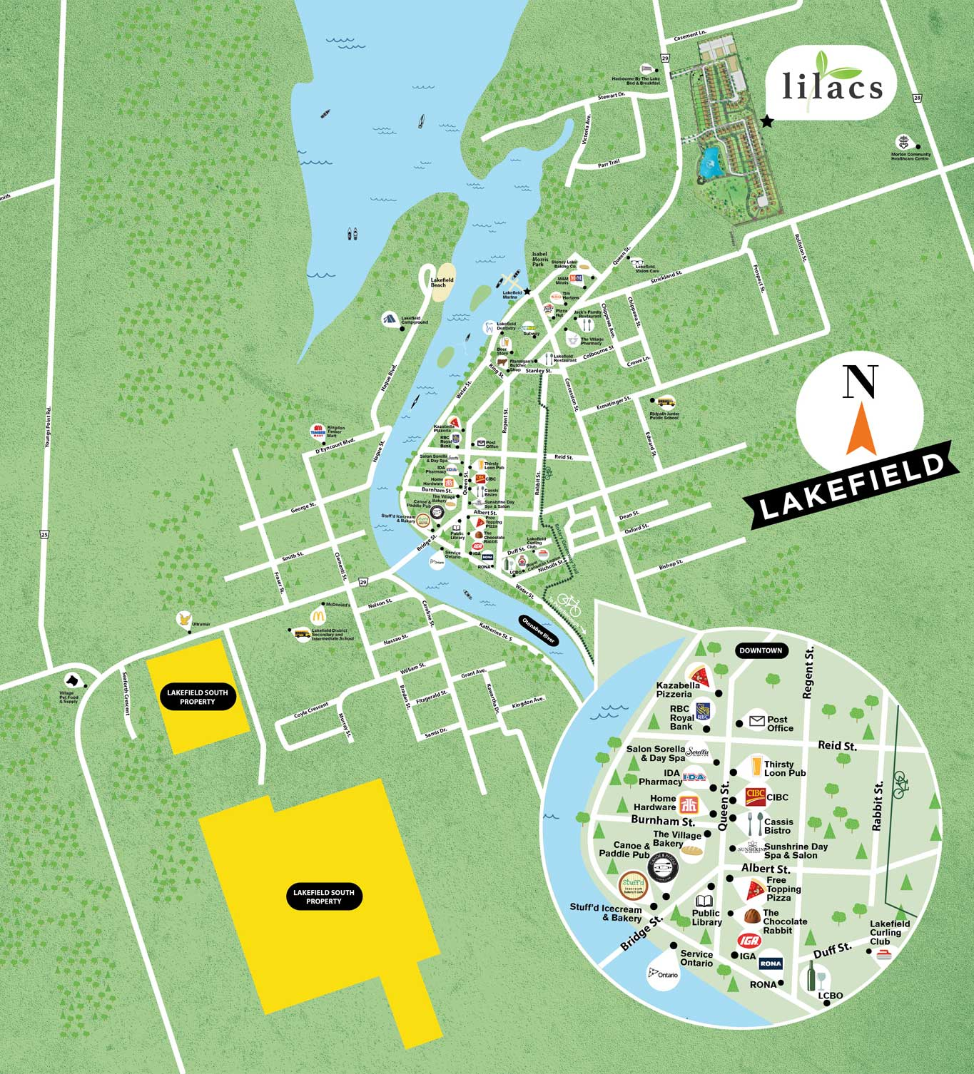 Lakefield Amenities Map