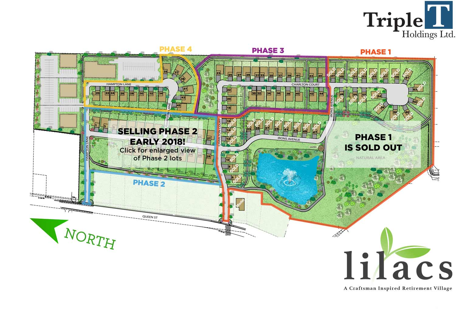 Plan view of Lilacs Lakefield community